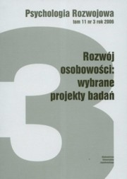 Psychologia rozwoju Tom 11 nr 3 rok 2006,