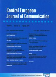 Central European Journal of Communication 7 1(12)Spring 2014,